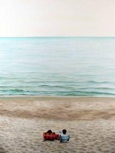 "Saatchi Art Artist Gennaro Santaniello; Painting, ""A spring morning at the sea"" #art"