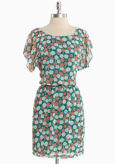 English Rose Printed Dress | Modern Vintage Dresses