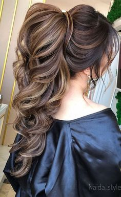 Gorgeous ponytail hairstyle to complete your look this spring Quince Hairstyles, Bride Hairstyles, Pretty Hairstyles, Perfect Hairstyle, Wedding Ponytail Hairstyles, Bridal Ponytail, Puff Ponytail, Curled Ponytail, Unique Wedding Hairstyles