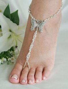 Beach wedding sandals!