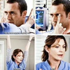 Meredith gets too excited and screams tumor in front of the patient