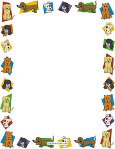 Printable dog stationery and writing paper. Free PDF downloads at http://stationerytree.com/download/dog-stationery/.