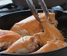 Simple Southern Fried Chicken by Fine Cooking Cooking Fried Chicken, Healthy Fried Chicken, Fried Chicken Recipes, National Fried Chicken Day, Chicken Milk, Southern Recipes, Southern Food, Southern Comfort, Stuffed Whole Chicken