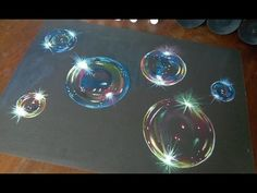 How to paint hyper realistic bubbles-acrylic painting timelapse - YouTube