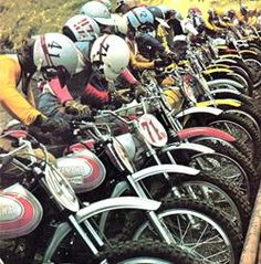 vintage mx bikes! wow they have come a long way...