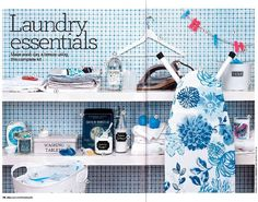 House Beautiful March 2013 House Beautiful, Beautiful Homes, Natural Home Decor, Kitchen Linens, March 2013, Table Linens, Linen Bedding, Laundry Room, Cool Things To Buy