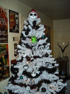 Jack Skellington tree topper is done...our tree is finished!