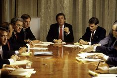 June 2, 2015 -   DONALD TRUMP: LIFE IN PHOTOS -   Donald Trump, real estate mogul, entrepreneur, and billionare spends most of his day attending board meetings in which he manages the construction of his buildings in his offices on August 1987 in New York City.   -  © Joe McNally/Getty Images