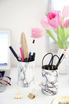 Kreative DIY-Idee für Stiftehalter aus leeren Konservendosen