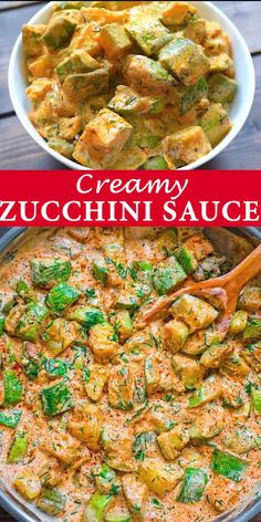Zucchini Sauce It's zucchini season and you've got to try this recipe! Fresh, flavorful, and so versatile, this Zucchini Sauce Healthy Dinner Recipes, Soup Recipes, Diet Recipes, Chicken Recipes, Cooking Recipes, Healthy Appetizers, Hallumi Recipes, Recipe Chicken, Paleo Dinner