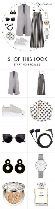 """07.08.2017"" by olgacontrast on Polyvore featuring мода, rag & bone, Madewell, adidas, Dolce&Gabbana, Sennheiser, Daniel Wellington, Christian Dior и Chanel"