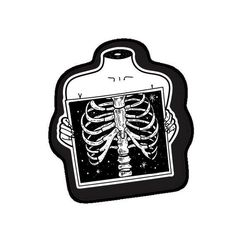 Nurses Discover Your place to buy and sell all things handmade X Ray Skeleton Sticker Tumblr Stickers, Cool Stickers, Printable Stickers, Laptop Stickers, Planner Stickers, Kawaii Stickers, Black And White Stickers, Blackwork, Aesthetic Stickers