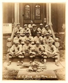 1920 Detroit Wolverine A.A. Base Ball Team - From the old days of the great Negro Leagues