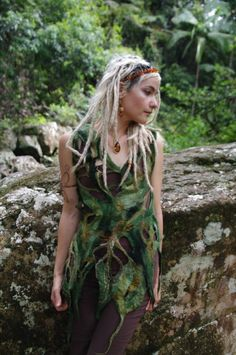 Rainforest leaf woodnymph top by frixiegirl on Etsy