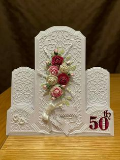 Side Step Card, Birthday Cards, Happy Birthday, Step Cards, Beautiful Handmade Cards, Carnations, Anniversary Cards, Craft Cards, Creative