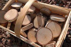 Holzscheiben Birke Deko 45 Stück, 6 - 8 cm  von FrauSchreinermeister auf DaWanda.com