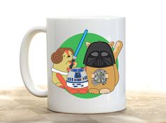 ** Back in stock :) **  This mug features the cute and colourful Star Paws gang all dressed up in their Star Wars cosplay finest! This mug is