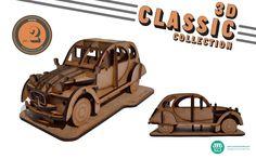 O modelo NR.2 da coleção 3D Clássicos, com 32 peças. by Suricata Design Studio  www.suricatastudio.com