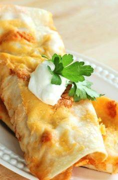Low FODMAP Recipe and Gluten Free Recipe - Chicken enchiladas http://www.ibs-health.com/low_fodmap_chicken1_enchiladas.html
