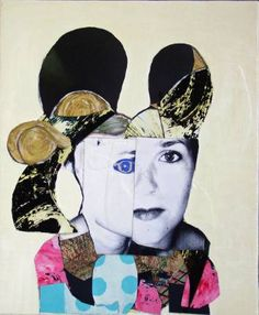 "Saatchi Art Artist Pascal Marlin; Collage, ""little portrait of woman"" #art"