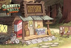 Touring the world of shinies. Gravity Falls Town, Cabana, Dream Anime, Break Wall, American Cartoons, Dipper And Mabel, Fall Background, Aesthetic Memes, Reverse Falls