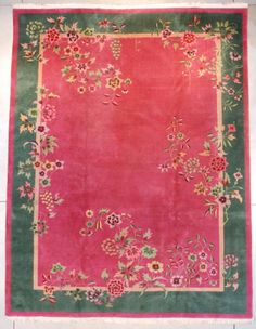 Vintage Antique Art Deco Chinese Oriental Rugs and Peking Chinese  rugs,carpets for sale