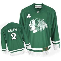 Duncan Keith Off for Reebok Duncan Keith Authentic Men s Jersey - NHL  Chicago Blackhawks Green St Patty s Day de4fc8ec4