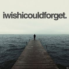 forget the bad memories. forget the past. forget you.