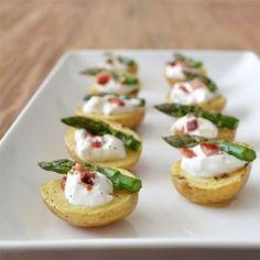 Cute! An easy appetiser: Little Baked Potato Bites