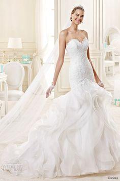 nicole spose bridal 2015 style 24 niab15110iv strapless sweetheart mermaid wedding dress