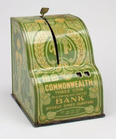 """Commonwealth Three-Coin Registering and Savings Bank"" America, 1915 The Minneapolis Institute of Art"