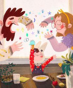 Art And Illustration, Illustration Mignonne, People Illustration, Illustration For Children, Book Illustrations, Art Mignon, Children's Picture Books, Art Plastique, Cute Art