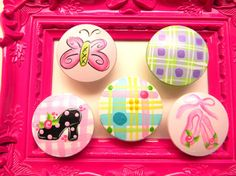 Hand painted knobs by bubblesandcompany on Etsy, $5.00