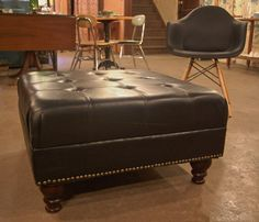 Large Leather Ottoman Coffee Table