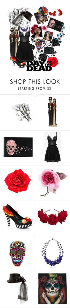 """Untitled #617"" by ennkey ❤ liked on Polyvore featuring iCanvas, Alexander McQueen, Johnny Loves Rosie, Gucci, Heaven Tanudiredja and Dayofthedead"