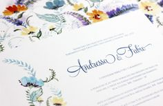 Convite Floral Pattern Modelo com arte pintada em aquarela - Wedding invitation Flowers painted watercolor https://www.facebook.com/conviteriaflora/photos/pcb.1055338144499671/1055338087833010/?type=1&theater