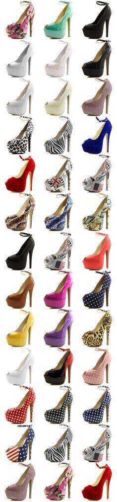 Women's Extreme High Fashion Ankle Strap Peep Toe Hidden Platform Sexy Stiletto High Heel  Pump Shoes Try it now!