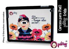 carcasa para iPad2 con la caricatura de Frida Kahlo diseñada por PIKSY!  #fridakahlo #diseñomexicano