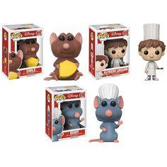 Funko Pop! Disney: Ratatouille Emily, Remy, Alfredo Vinyl Figures