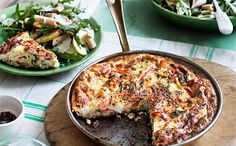 Prawn and parsley frittata with pasta and pear salad  - Better Homes and Gardens - Yahoo!7