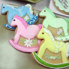 Rocking Horse Baby Shower Cookies