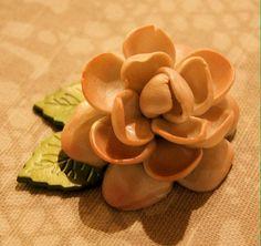 Big flower - polymerclay by KVJ