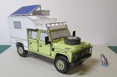 Land Rover Defender 110 Camper Free Vehicle Paper Model Download