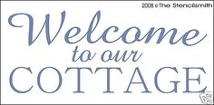 Stencil for Sign Welcome to Our Cottage Chic Beach Rose | eBay