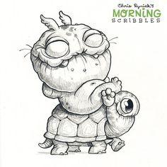 Chris Ryniak - morning scribbles - cute and funny art   Takin' a break!
