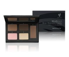Sculpt Brows to Wow  MOODSTRUCK BROW OBSESSION PALETTE  Perfect your brows with five versatile products to sculpt, define, highlight, and set your brows in one mirrored compact. Light and dark sculpting powders, matte and shimmer highlighters, and a setting wax give a high-impact look to match your mood.