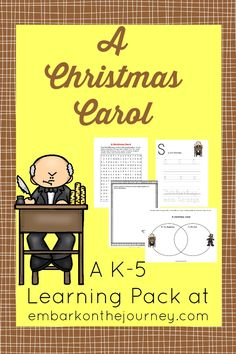 Kick off your holiday homeschool lessons with this free printable based on A Christmas Carol! | embarkonthejourney.com
