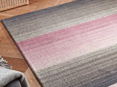 Miko Designs - Stripes Mauve / Taupe Rugs | Modern Rugs