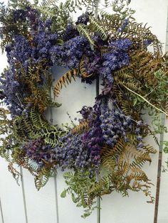Twig Wreath, Boxwood Wreath, Hydrangea Wreath, Wreaths For Front Door, Door Wreaths, Lavender Wreath, Floral Supplies, How To Make Wreaths, Dried Flowers