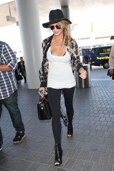 Chrissy Teigen arrives at LAX in Los Angeles on July 2, 2015